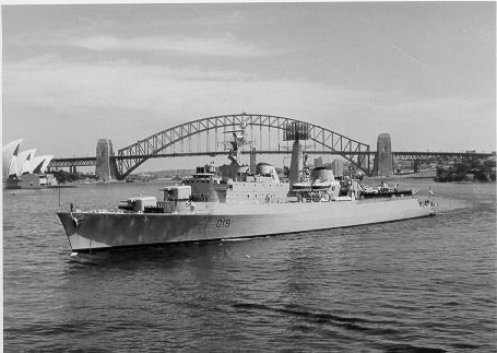 Again, just another of my ships, this time Glamorgan manoeuvring in Sydney harbour