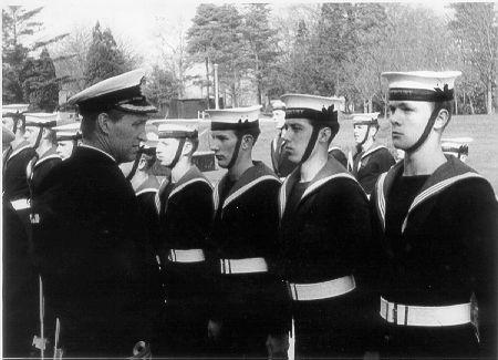 Captain's Guard. Passing out parade after having completed basic communications training at HMS Mercury in 1965. Me on the right.