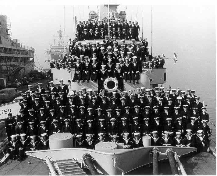 Ships Company taken in San Diego early 1974. HRH 7th in from the right 2nd row back.  The R.S., 5th in from left 4th row back