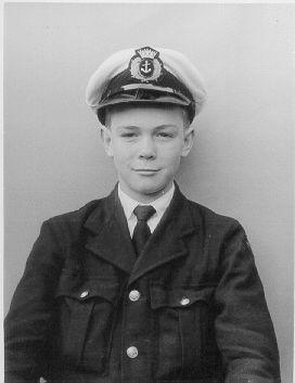 My first naval uniform. London nautical school in 1960 when I was 13.